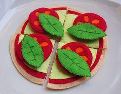 Fieltro juego de Pizza juego juguete de comida por Feltasticshop