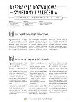 Dyspraksja rozwojowa – symptomy i zalecenia | Kreatywny Nauczyciel Asd, Psychology, Therapy, Speech Language Therapy, Psicologia