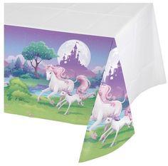 Unicorn Fantasy Plastic Tablecloth