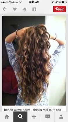 Beach wave perm - I think I'll cut and dye my hair first and then wait a month and perm it :D