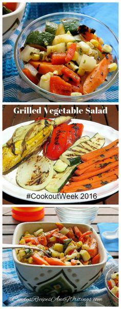 Grilled Vegetable Salad #cookoutweek @FrenchFarmThe #ad