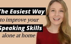 The easiest way to practice English speaking alone at home in Use these 11 easy ways to practice speaking English alone at home to finally become a confident English speaker. Improve English Speaking, English Learning Spoken, Learn English Words, Education English, Teaching English, English Teachers, English Sentences, English Vocabulary, English Grammar