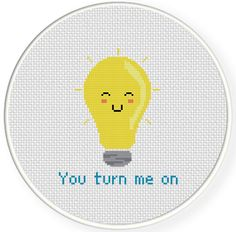 FREE You Turn Me On Cross Stitch Pattern More