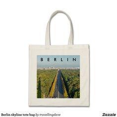 Berlin skyline tote bag