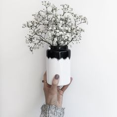Kept black and white with the Agnes vase