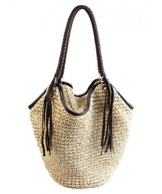 174515096 Octopus Style Large Paper Yarn Braid Beach Tote Hobo Shoulder Handbags with  Tassels for Women-girls - Beige - CE12NUKUTG5