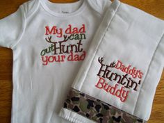 Hunting Baby Boy Set Daddy's Hunting Buddy Baby by babytweets, $18.00