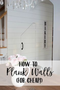 How to plank walls like shiplap for cheap!