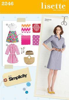 Simplicity pattern 2246: Misses' & Miss Petite Sportswear Traveler shirt dresses
