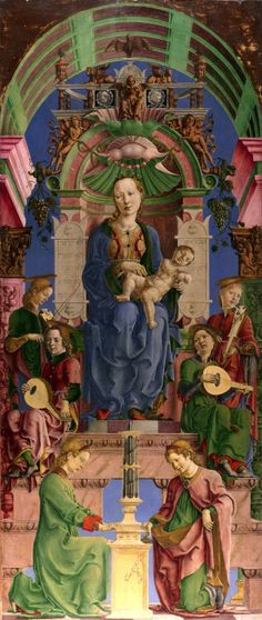 Cosimo Tura (1430–1495) - Madonna and Child Enthroned with Musician Angels