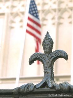Fleur De Lis along the top of the iron fence at the Louisiana Old State Capitol in Baton Rouge / by Steve Buser.