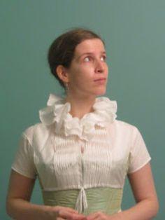The Shadow of My Hand: chemisette Regency Dress, Regency Era, 1920s Dress, Victorian Fashion, Vintage Fashion, Historical Clothing, Historical Dress, Empire Style, Jane Austen
