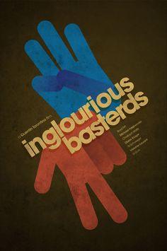Inglourious Basterds. Part of Tarantino Poster set by Ibraheem Youssef.