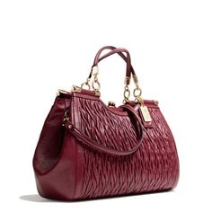Coach :: MADISON CARRIE IN GATHERED TWIST LEATHER