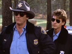 """Alan Autry as Bubba Skinner - Hugh O'Connor as Lonnie Jamison - """"In the heat of the night."""""""