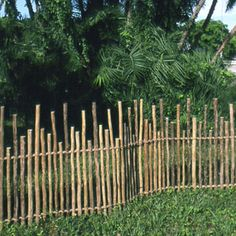 rustic eucalyptus fence (could also do with bamboo)