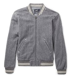 Grayers Russell Herringbone Cotton Bomber Jacket - $155