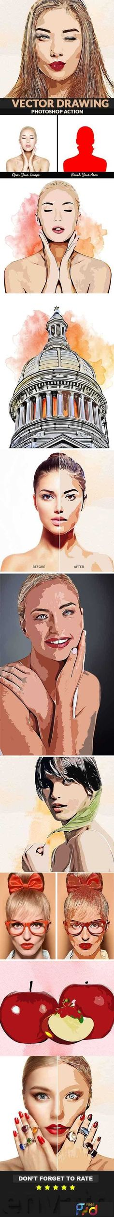 Vector Drawing Photoshop Action: Photo Effects Photoshop created by Keepdesign. Photoshop Actions For Photographers, Best Photoshop Actions, Effects Photoshop, Photoshop Photos, Photoshop Design, Photoshop Photography, Photoshop Tutorial, Photo Action, Graphic Design Tutorials