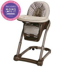Moms love that babies can sit in the Graco Blossom 4-in-1 High Chair, winner in the High Chair category, and join the family at the table.