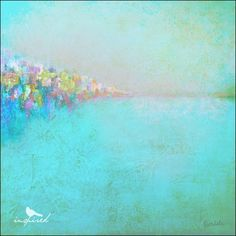 abstract ocean painting // love these soft hues