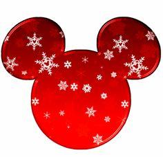 Cabezas de Mickey rellenas con copos de nieve.