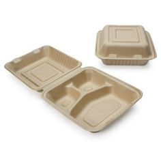 Another great find on x Sectioned Compostable Storage Container - Set of 200 Disposable Food Containers, Take Out Containers, Storage Containers, Wheat Straw, No Plastic, Plastic Items, Plant Fibres, Food To Go, Cold Meals