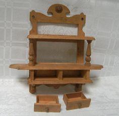 ANTIKES GRÜNDERZEIT Wandboard UM 1900  für d. Puppenstube17,7 cm x 18,5 cmx4,1cm