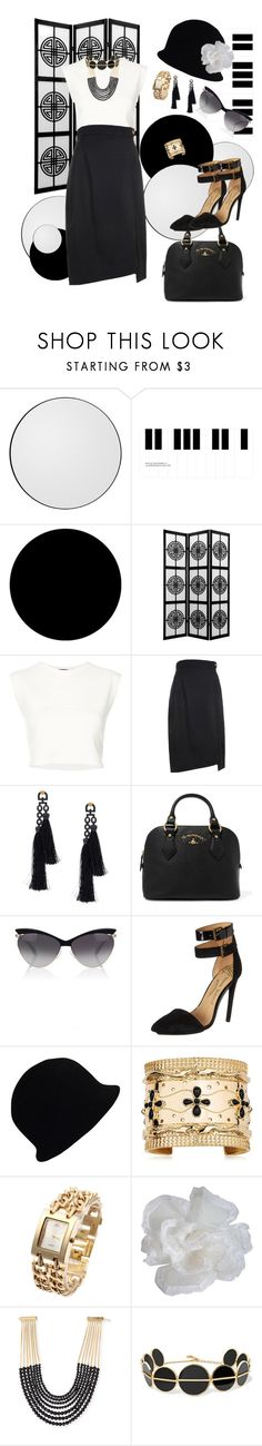 """""""Black and white"""" by mary-kay-de-jesus ❤ liked on Polyvore featuring AYTM, Wall Pops!, Puma, Vivienne Westwood, Vivienne Westwood Anglomania, Chanel, Aurélie Bidermann, Rosantica and Anissa Kermiche"""