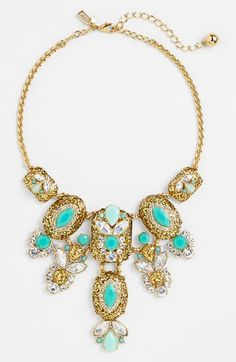 Free shipping and returns on kate spade new york 'showgirl gems' bib necklace at Nordstrom.com. Unique glitter-saturated stones draw the eye further toward this multicolor statement-size necklace. Refreshing color and urbane sparkle give this piece kate spade new york's signature flair.