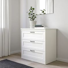 Small Dresser, Ikea Dresser, 6 Drawer Dresser, Drawer Unit, Ikea 3 Drawer Chest, Top Drawer, White Chests, White Nightstand, Bedroom Night Stands