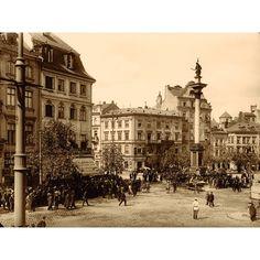Warszawa, Plac Zamkowy, Stanisław Nofok‑Sowiński, 1914 - BOSZart