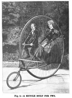This is a spectacular tandem! Old Bicycle, Bicycle Art, Old Bikes, Bicycle Design, Bicycle Shop, Tandem, Vintage Pictures, Old Pictures, Old Photos