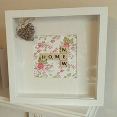 New Home Scrabble Inspired Box Frame by MyMummyMakes1 on Etsy