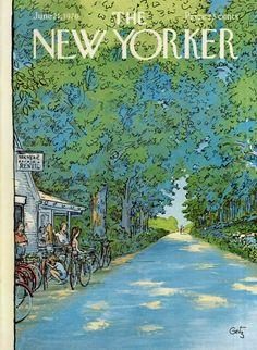 Arthur Getz : Cover art for The New Yorker 2679 - 21 June 1976