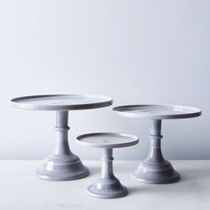Grey Swirl Glass Cake Stand on Food52