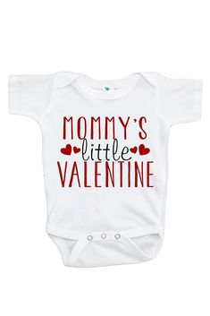 inktastic Im The Man of Mommys Dreams Valentines for Kids Long Sleeve Creeper