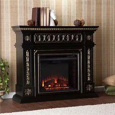 Southern Enterprise FE9661 Donovan Electric Fireplace Black