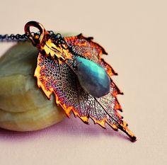 Flashy Birch Leaf Necklace $39.00