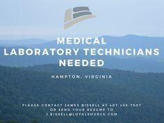 #medicallabtechnician #hiring #healthcare #hampton #virginia