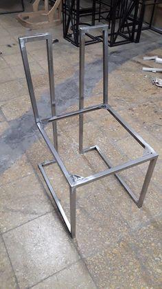 - Julia Schmitz Welded Furniture, Iron Furniture, Steel Furniture, Furniture Legs, Industrial Furniture, Table Furniture, Modern Furniture, Furniture Design, Garden Furniture