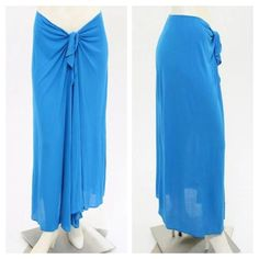 Eres Blue Tie Front Sarong Skirt Beach Cover-Up Eres Blue Tie Front Sarong Skirt   Perfect Beach Cover-Up  This essential blue sarong skirt features a tie closure with a keyhole opening and a sheer finish.  Condition: Exceptional Condition with no signs of wear   Size: US M/L  Measurements:  Total Length: 36 in.  Waist: 29 in.  Fabrication: 82% Rayon, 18% Polyamide  Origin: France   Lindsay Marcus LOUIS-GASM 203.917.1124  14 years on ebay selling only authentic items.   Find me on Google+ or…