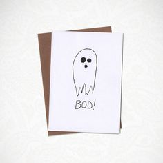 Boo Spooky Greeting Card by KatieNovakArt on Etsy