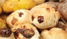 Les Petits Pains: cheese, walnut, raisins, olives, fig or seeded mini breads from Maison-Kayser bakery in NYC