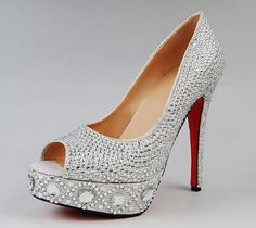 Swarovski Crystal Wedding heels