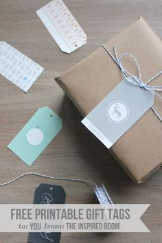Free Printables & Brown paper packages tied up with string