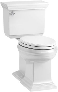 Kohler Memoirs Stately Comfort Height Elongated GPF Toilet with Aquapiston Flush Technology and Left-Hand Trip Lever, Concealed Trapway Kohler Faucet, Kohler Toilet, Kohler Memoirs, Contemporary Toilets, Dual Flush Toilet, Wall Hung Toilet, Chair Height, Left Handed, Home Improvement