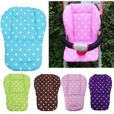 Kereta Dorong bayi Bantal Bayi Bayi Kursi Kursi Dorong Stroller Bantal Katun Tikar Putih Dot Bantal Kursi Kereta Dorong Bayi Aksesoris