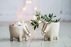 Hago estos animales mágicos de cerámica