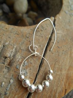 Sterling Silver Beaded Roped Circle Drop Earring by SFDesigns2015