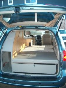 Toyota Sienna Custom rear storage